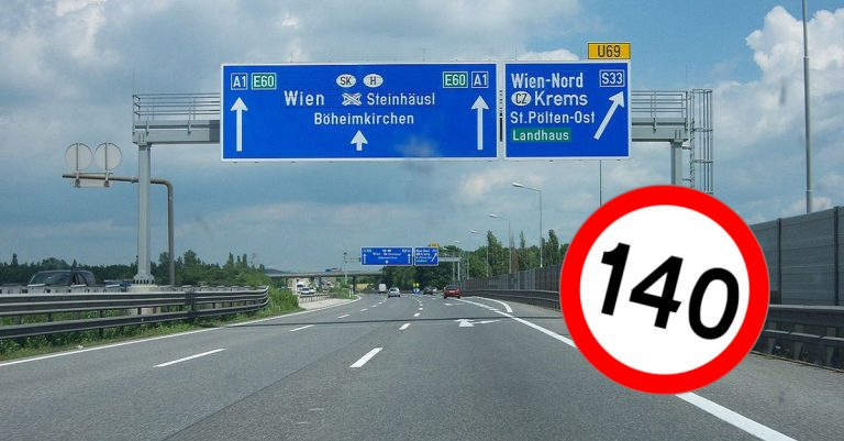 "<p>Bild Westautobahn: User &#8218;My Friend&#8216; via <a href=""https://de.wikipedia.org/wiki/Datei:A1_Kn._St._Pölten_2.JPG"">Wikimedia Commons</a> [<a href=""https://creativecommons.org/licenses/by-sa/3.0/deed.de"">CC BY-SA 3.0</a>] / Bild &#8222;140 km/h&#8220;: Wikimedia Commons [CC0] / Collage: Die Tagesstimme (Symbolbild)</p>"
