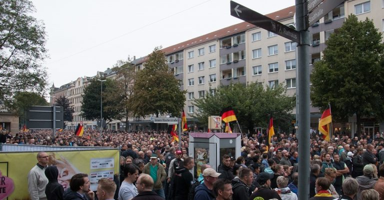 <p>Symboldbild: Demonstration in Chemnitz / Bild: privat</p>