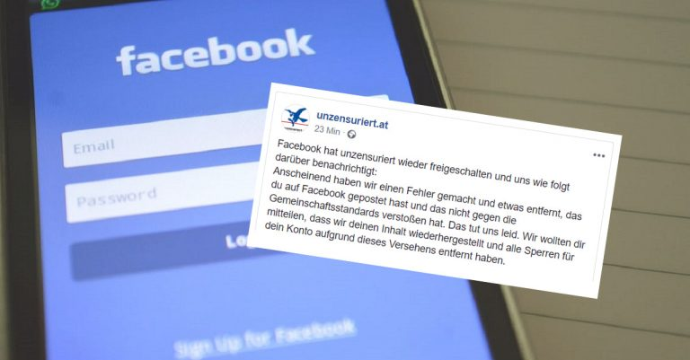 <p>Symbolbild Facebook (CC0) / Facebook-Beitrag: Screenshot Facebook/Unzensuriert.at</p>