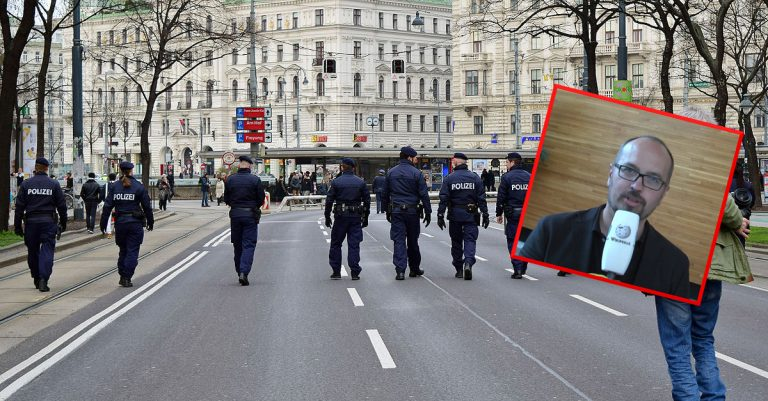 "<p>Symbolbild: Polizei / By Haeferl [<a href=""https://creativecommons.org/licenses/by-sa/3.0"">CC BY-SA 3.0 </a>], <a href=""https://commons.wikimedia.org/wiki/File:Wien_-_Demo_Fl%C3%BCchtlinge_willkommen_-_Polizei.jpg"">from Wikimedia Commons</a> (Bild zugeschnitten) / von Olaf Kosinsky [<a href=""https://creativecommons.org/licenses/by-sa/3.0"">CC BY-SA 3.0 </a>], <a href=""https://commons.wikimedia.org/wiki/File:Michel_Reimon-MEP_by_Olaf_Kosinsky.png"">vom Wikimedia Commons</a> /Collage: Die Tagesstimme</p>"