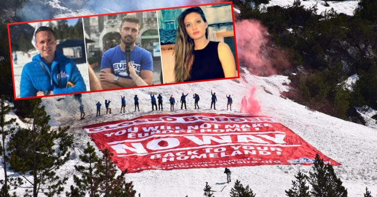 <p>Bild: Defend Europe Mission Alps (Twitter Defend Europe) / Romain Espino, Clement Galant, Anais Lignier (Screenshot Facebook The Identitarian) / Collage: Die Tagesstimme</p>