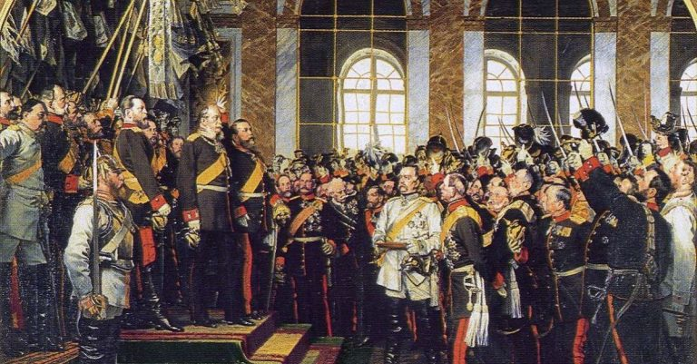 "<p><a href=""https://commons.wikimedia.org/wiki/File:Anton_von_Werner_-_Kaiserproklamation_in_Versailles_1871.jpg"">Anton von Werner</a>, Public domain, via Wikimedia Commons </p>"